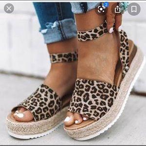 Soda Leopard Print espadrilles sandals